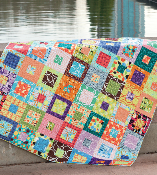 Box of Chocolates quilt from Skip the Borders