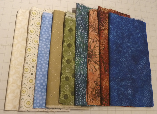 Trident Links quilt--Mary's fabric choices