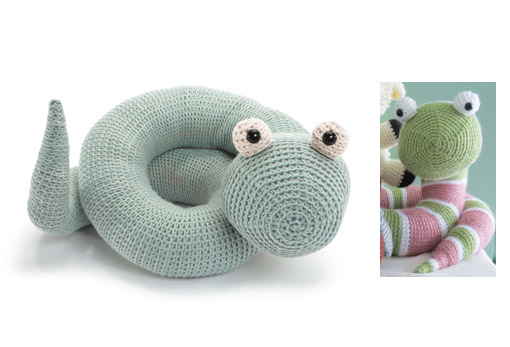 Crocheted Softies - 2 snakes