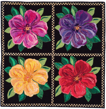 Stunning Flower Quilts To Quilt By Number Stitch This