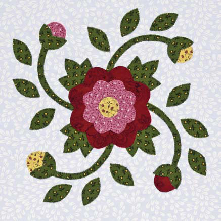 Whig Rose block from Inspired by Tradition