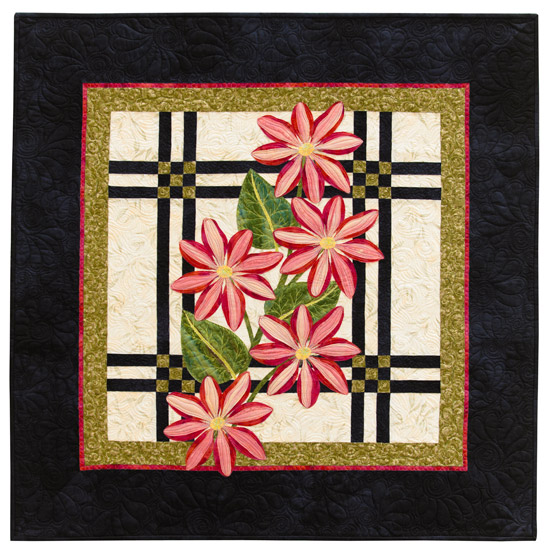 Plaid Clematis from Flower Show Quilts