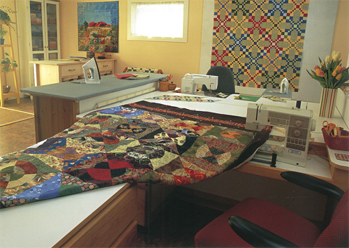 Mary's quilting studio--after 2