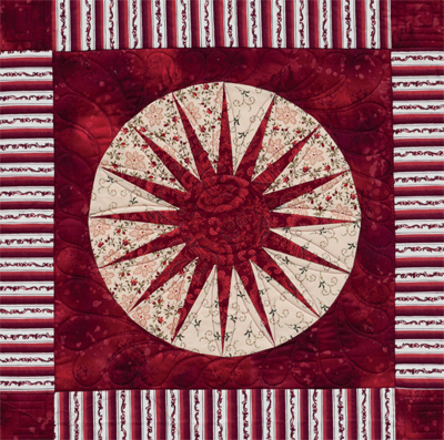 Detail of Seeing Red quilt