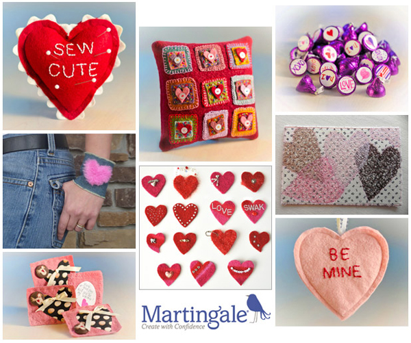 Sewing and crafts for Valentine's Day