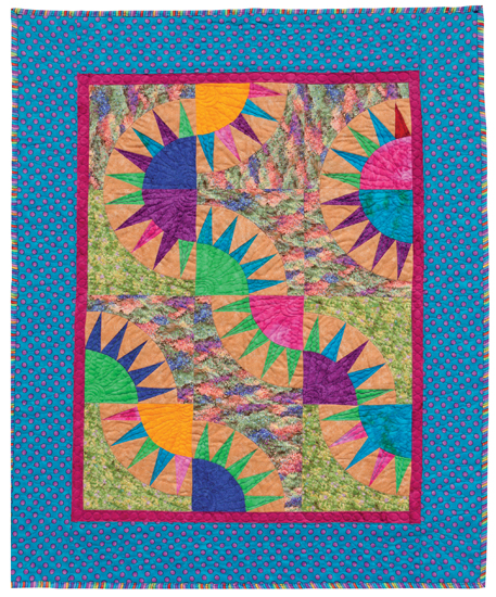Sunflower Blossoms quilt