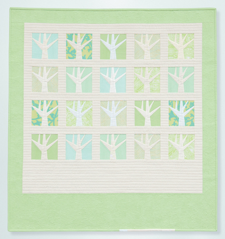 Tiny Textured Trees quilt