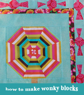 How to make wonky quilt blocks