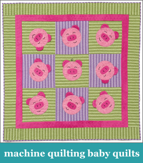 Machine quilting baby quilts