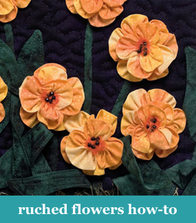 Ruched flowers how-to