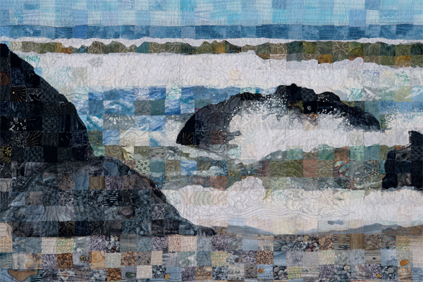 Detail of Pacific Beach quilt