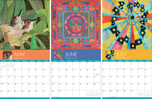 Sample pages from the Award-Winning Quilts 2014 Calendar