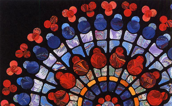 Notre Dame Rose quilt by Kitty Pippen