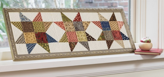 Framed quilt blocks from A Cut Above