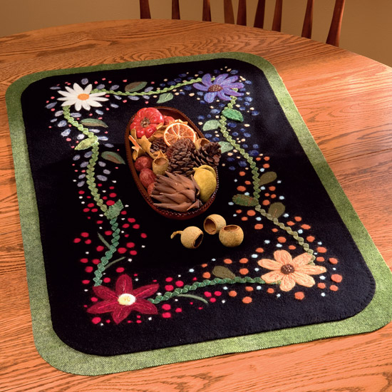 Seasons Table Mat from Needle Felting