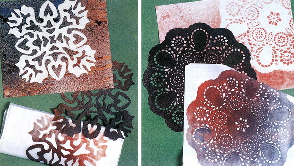 Stencils and masks on fabric 2