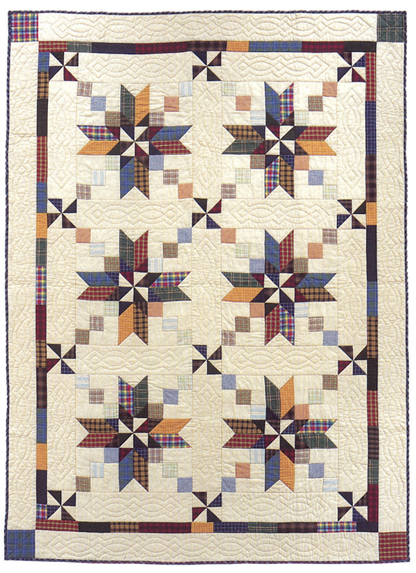 Blackford's Beauty in Plaids quilt from Scrap Frenzy