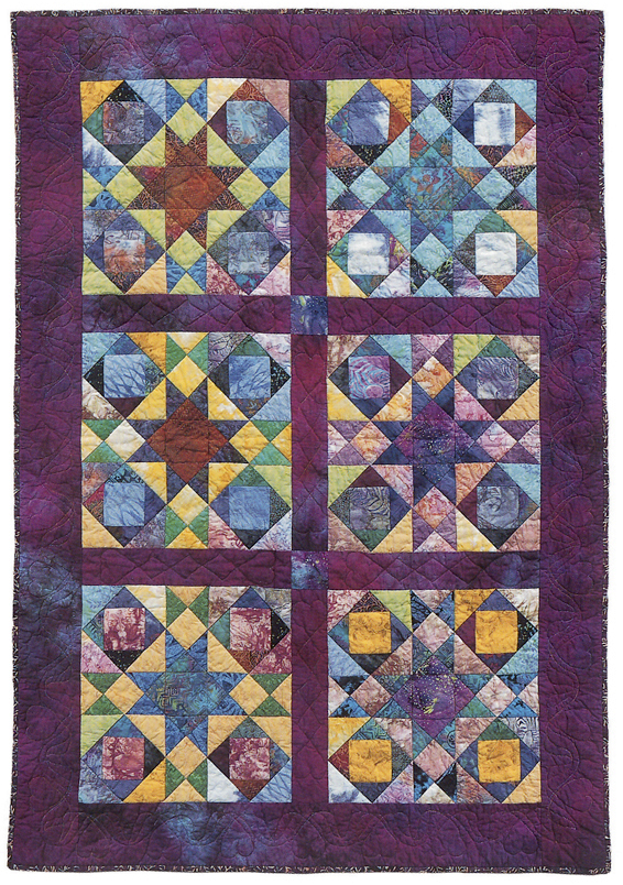 Cherry Grape or Orange quilt from Scrap Frenzy