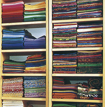 How to fold fabric for storage