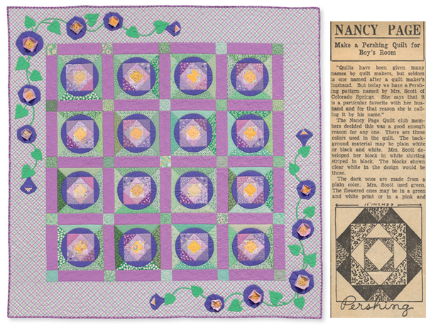 Morning, Glory! 1930s quilt