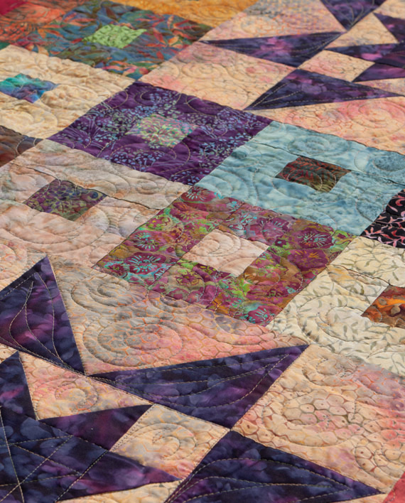 Detail of Purple Daze quilt by Cheryl Brown