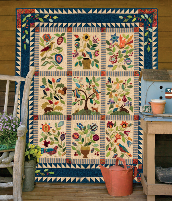 My Enchanted Garden quilt