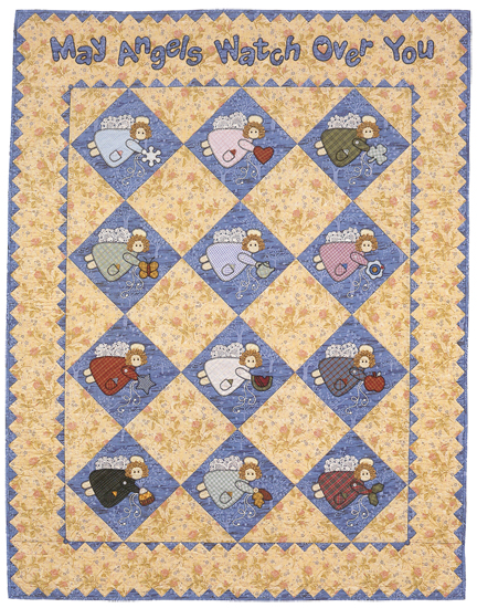 May Angels Watch Over You quilt