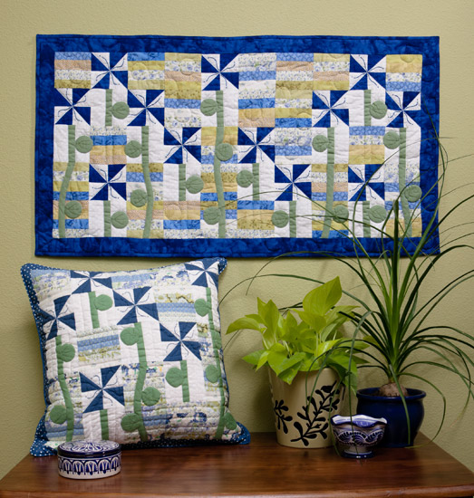 Summer Flowers quilt and pillow
