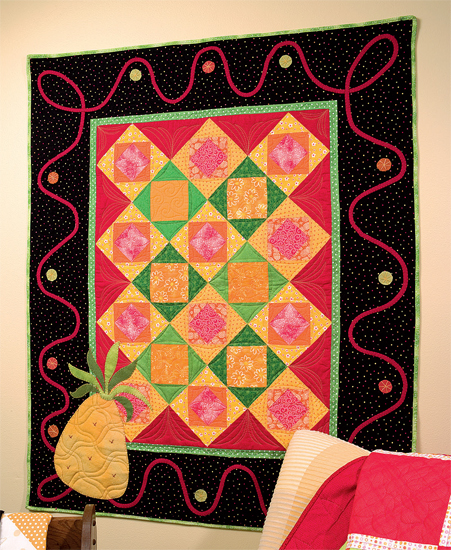 Fruit Salad wall quilt