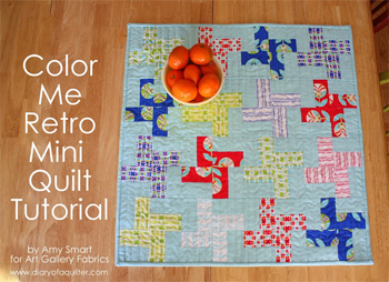 Free quilt pattern: Color Me Retro quilt by Amy Smart