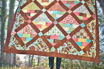 Flower Baskets quilt by Lauren + Jessi Jung