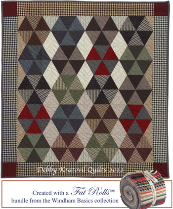Free quilt pattern: Hexagon Pinwheels quilt by Debby Kratovil
