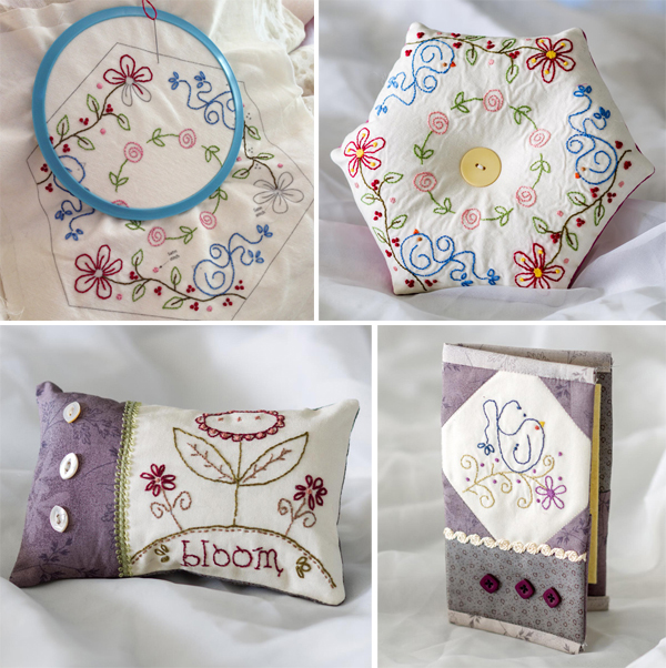 Karen's projects from Patchwork Loves Embroidery
