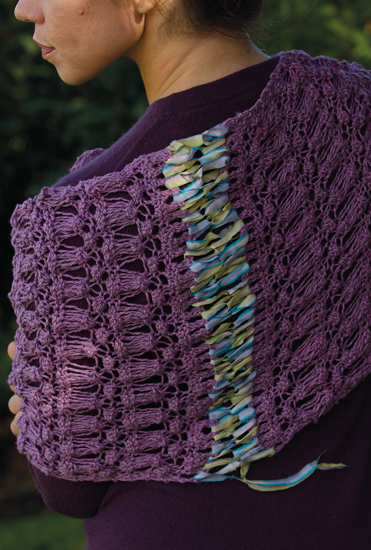 Ribbon lacing from Knitting by Nature