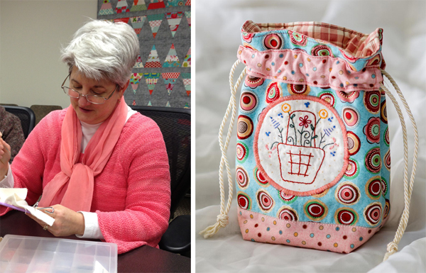 Tracy's project from Patchwork Loves Embroidery