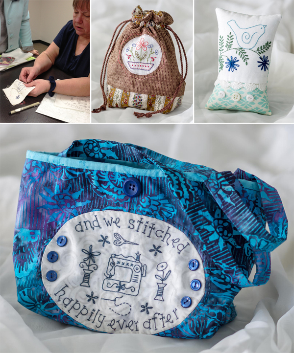 Cathy's projects from Patchwork Loves Embroidery