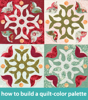 How to build a quilt-color palette
