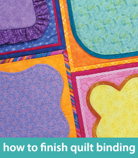 How to finish quilt binding