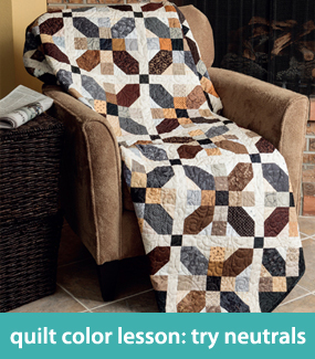Quilt-color lesson--try neutrals
