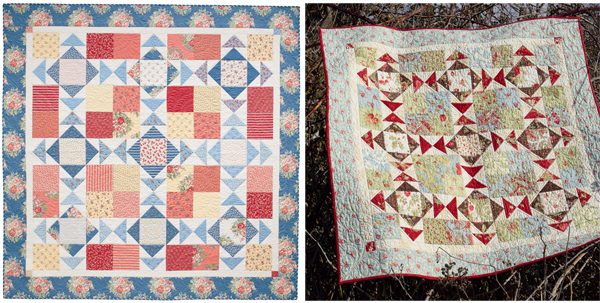 Winter White quilt, two ways