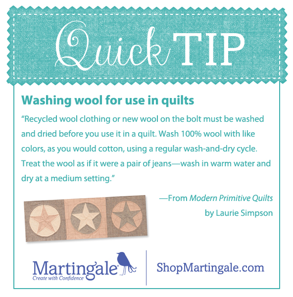Quick tip: washing wool for quilts