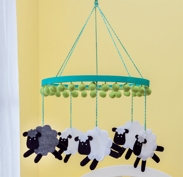Sewing for baby--Counting Sheep Mobile