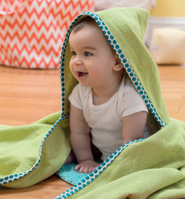Sewing for baby--hooded towel