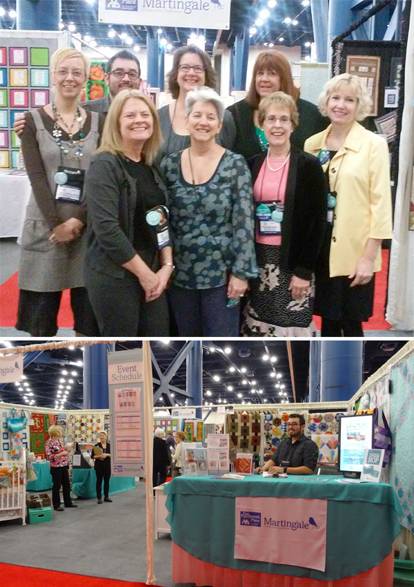Martingale booth at Quilt Market