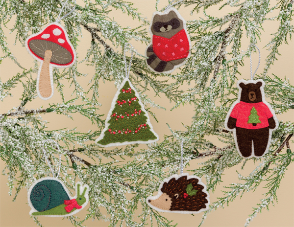 Forest Friends holiday ornaments