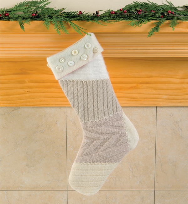 Naturally Neutral Christmas stocking