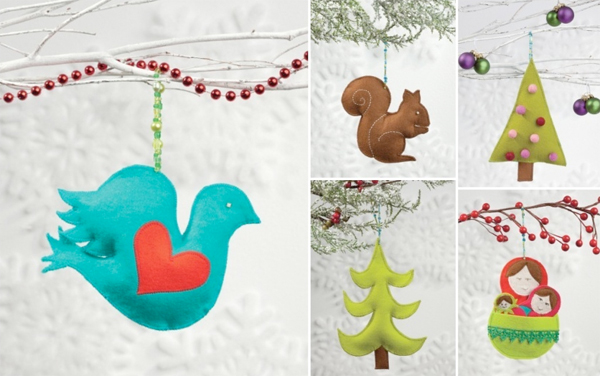 Wool-felt ornaments from Sew Merry and Bright