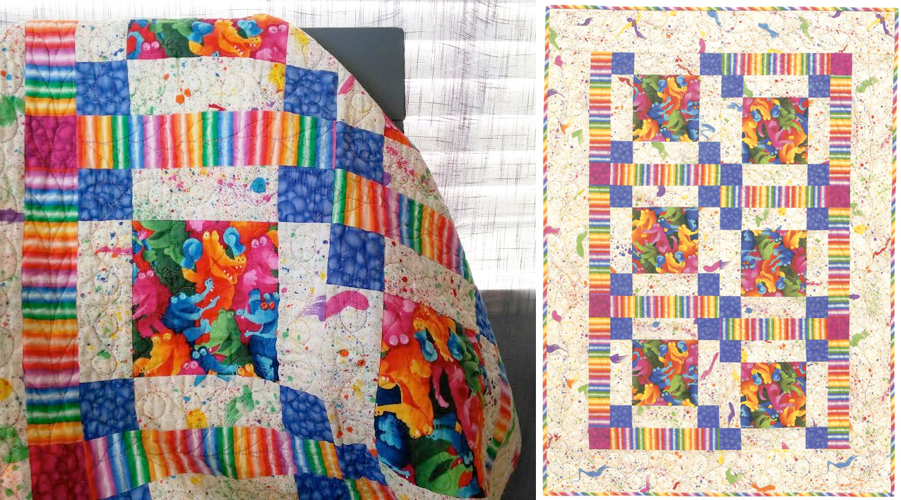 Giggling Gators free baby quilt pattern