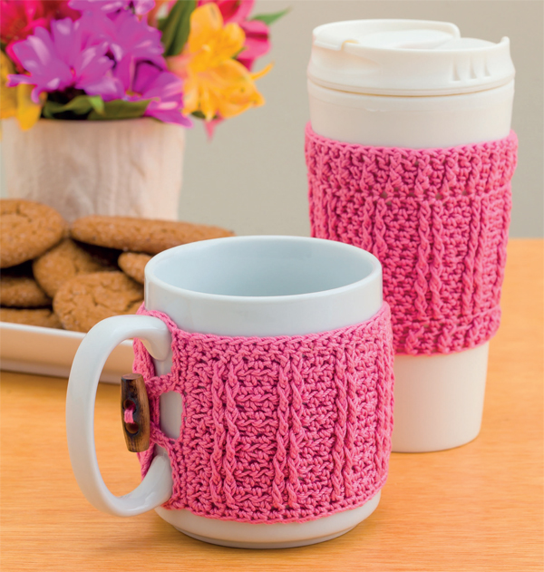 Crocheted cup cozies