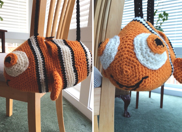 Finding Nemo crocheted duffle bag